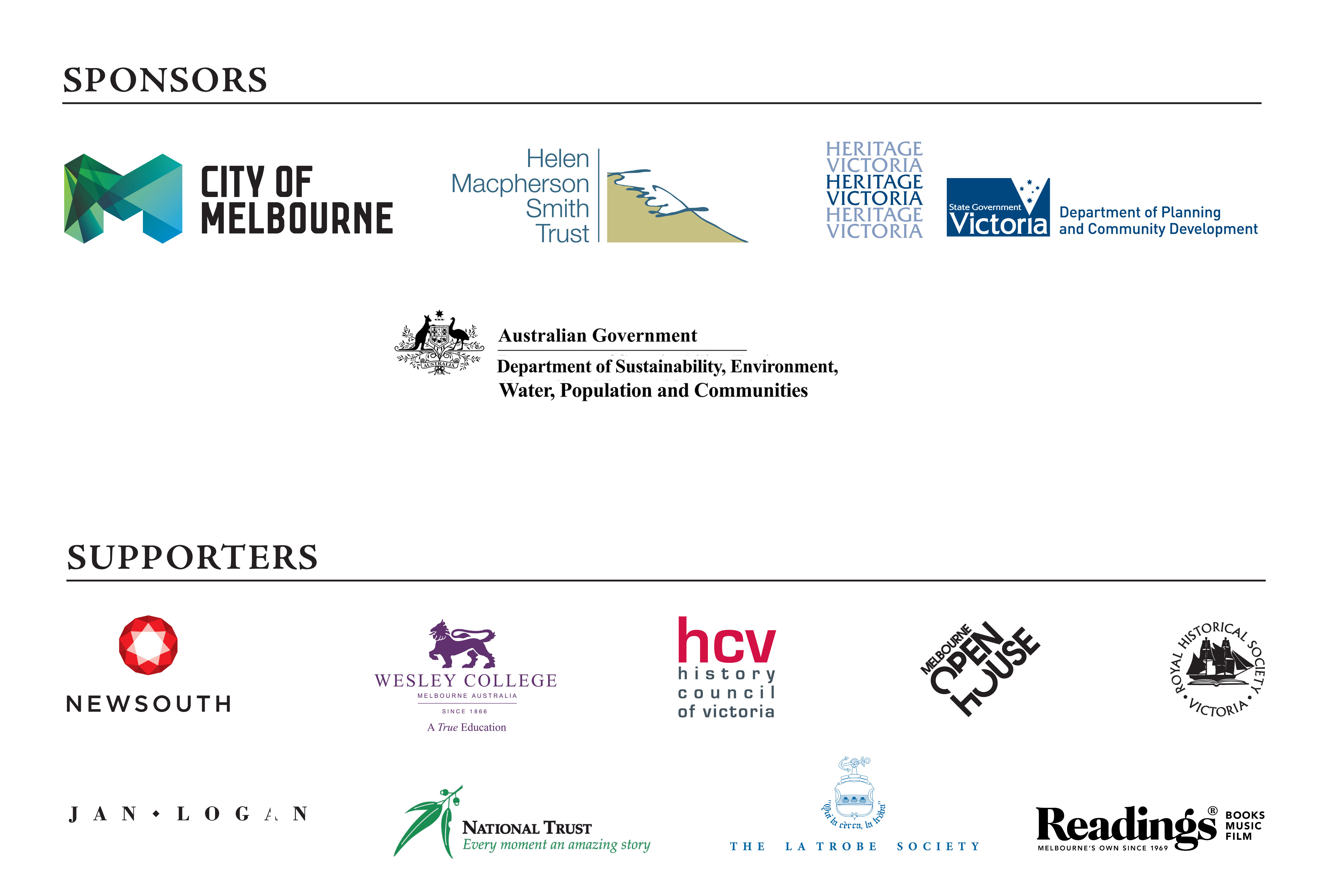 Sponsors and supporters of Gold & Governors, the 150th anniversary celebration of the Old Treasury Building.