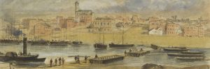Robert Russell, 'By the Falls 1855' on display in 'Melbourne: Foundations of a City' at Old Treasury Building