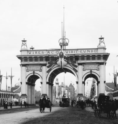 The Corporation Arch, one of the federation arches from Melbourne's celebration of the Commonwealth of Australia.