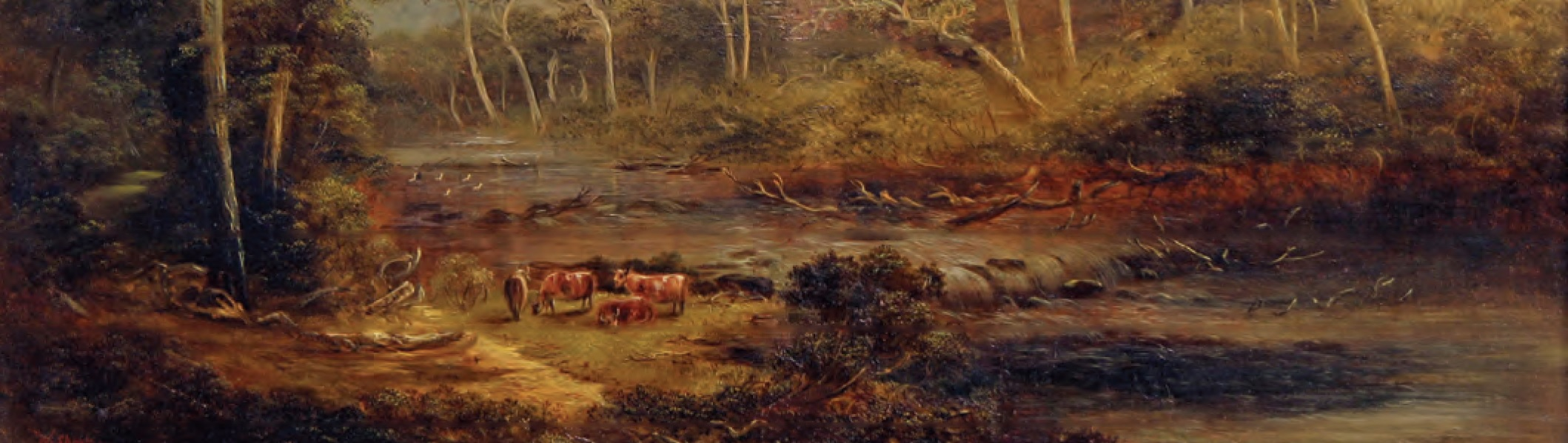 'Paintings of Early Melbourne' from the Roy Morgan Research Centre Collection on display at Old Treasury Building on a tour only.