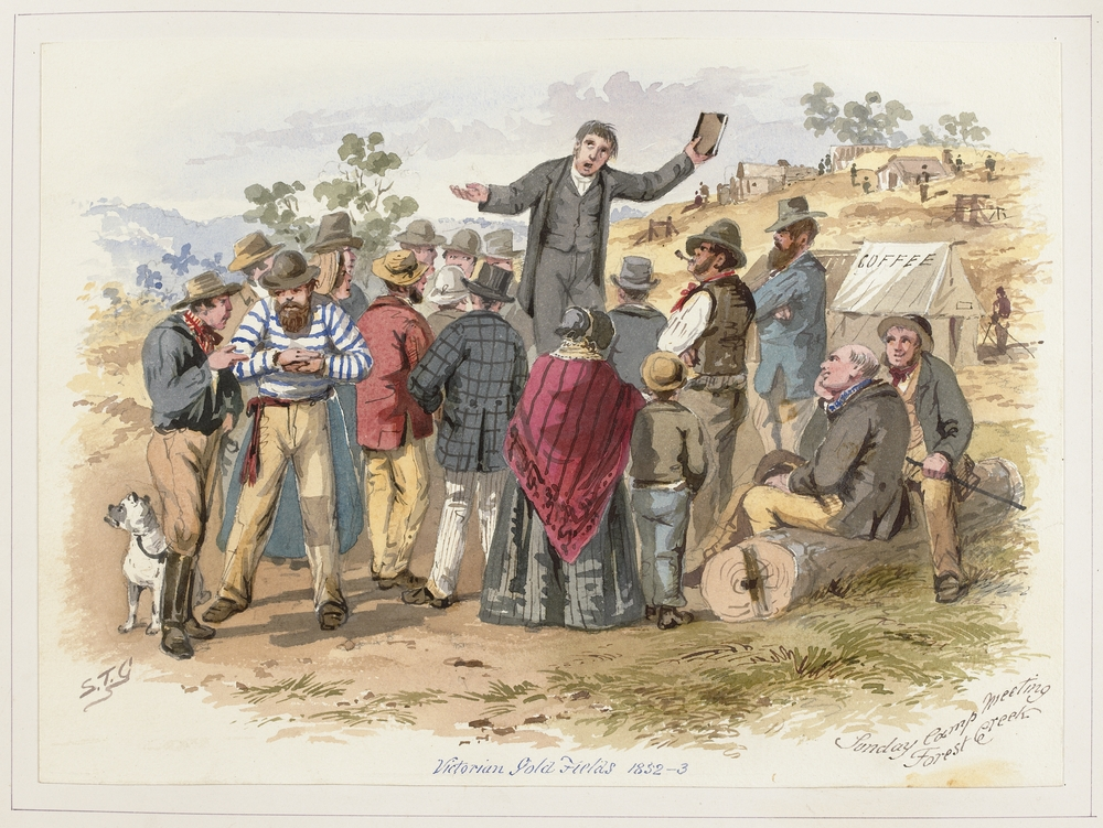 S.T. Gill Sunday Camp Meeting, Victorian gold Fields 1852-3