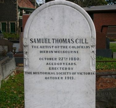 ST Gill tombstone