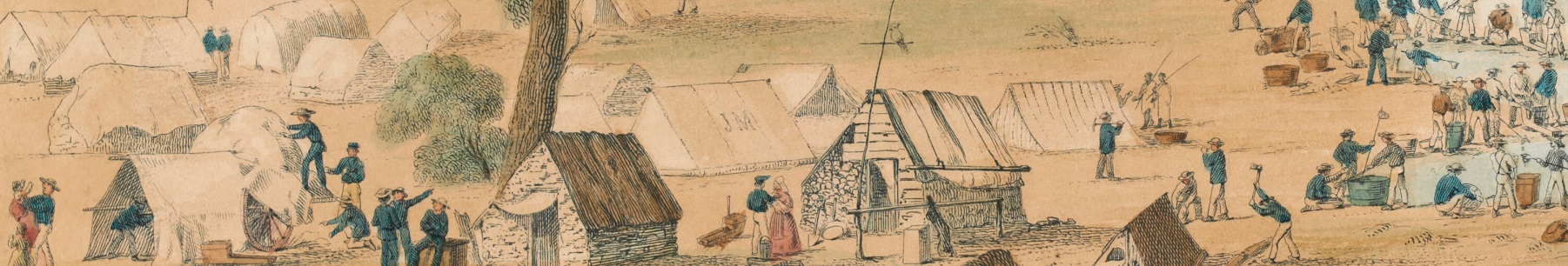 Gold Rush: 20 Objects 20 Stories on display at Old Treasury Building. Image Golden Point Ballarat 1851
