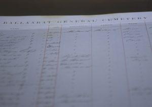 Ballaarat Cemetery Record