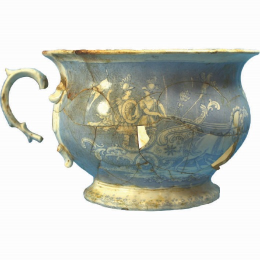 Chamber pot on display in Gold Rush: 20 Objects, 20 Stories
