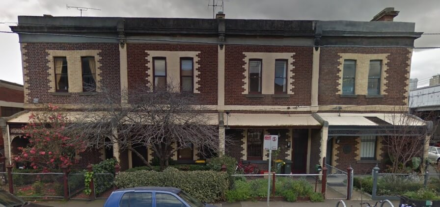 Gertie's house at 54 Gipps St, Collingwood. Built in 1890, image as it appears on Google Maps in 2019.