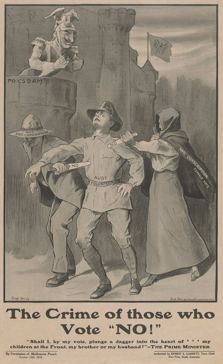 Propaganda and the conscription debate – Old Treasury Building