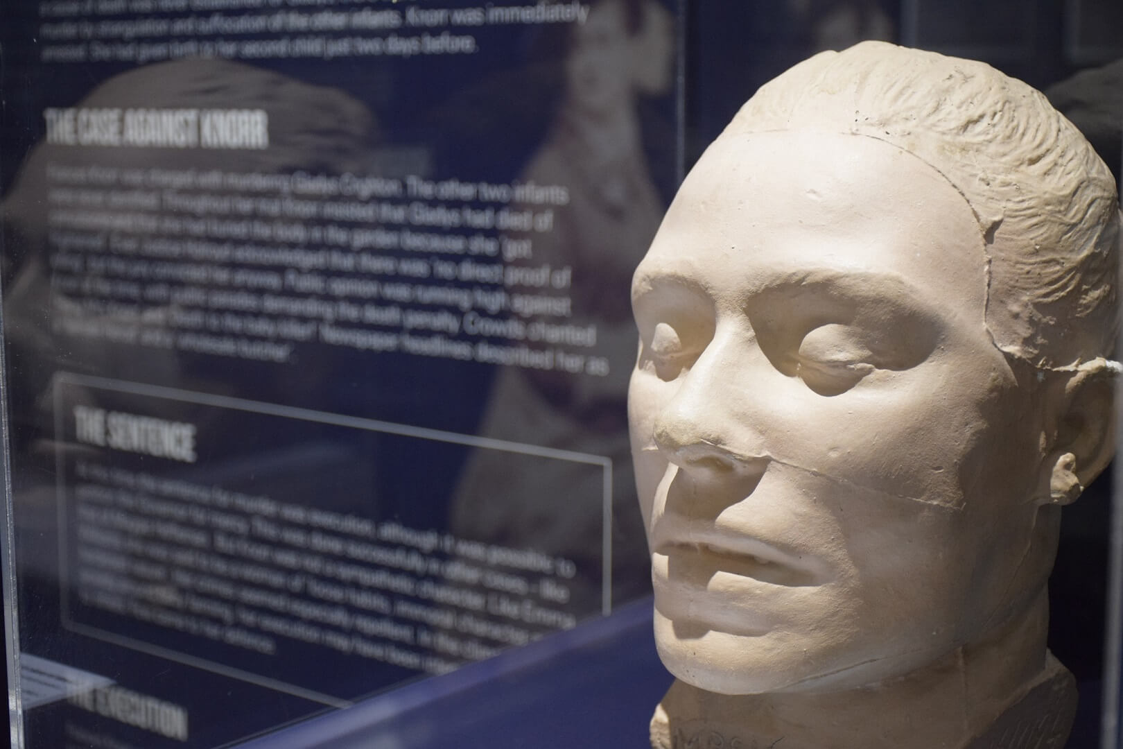 Frances Knorr death mask at Old Treasury sm