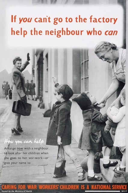 Poster promoting childminding for your neighbour