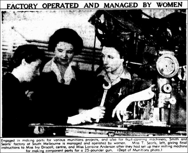 Factory Managed by Women newspaper article